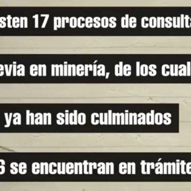 Los procesos de consulta previa en minería en curso