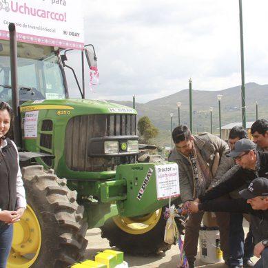Hudbay entregó  equipos agrícolas a comunidades campesinas de Chilloroya y Uchucarcco