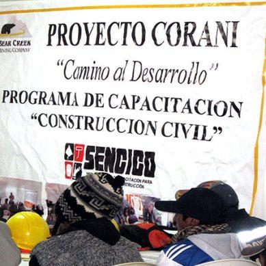 Bear Creek Mining baraja «todas las alternativas» para sacar adelante Corani, incluso la venta de una parte del proyecto