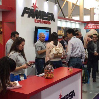 Famesa Explosivos presentó su nueva emulsión SAN- G APU® en el Expomin de Chile