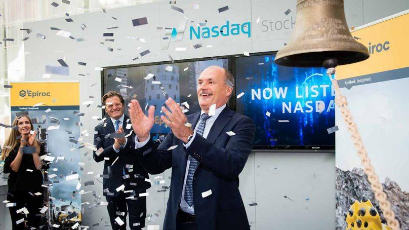 Epiroc se zambulle al mercado Nasdaq para reafirmar su independencia de Atlas Copco
