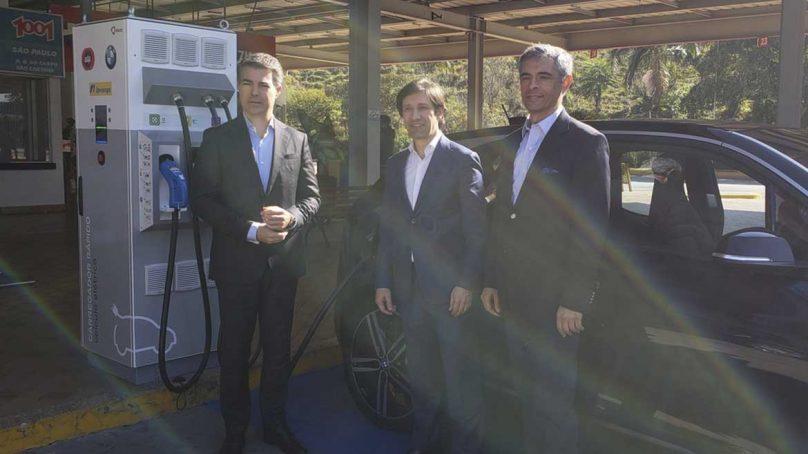 Instalan corredor de carga rápida para autos eléctricos entre Sao Paulo y Río de Janeiro