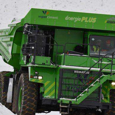 eDumper, el volquete eléctrico de 50 toneladas que prueban en una cantera suiza