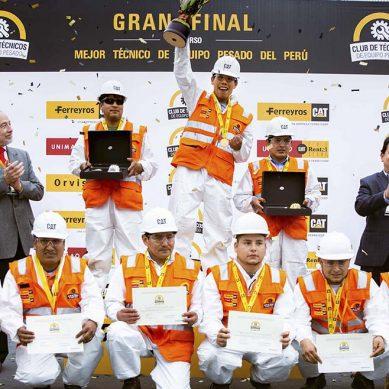 El mejor técnico de equipo pesado del país pertenece a Sociedad Minera Cerro Verde