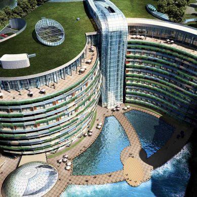 Hotel Songjiang, otrora una mina, pronto un lujoso complejo vanguardista