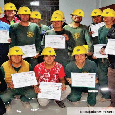 Por primera vez, minera artesanal certifica las competencias de sus trabajadores