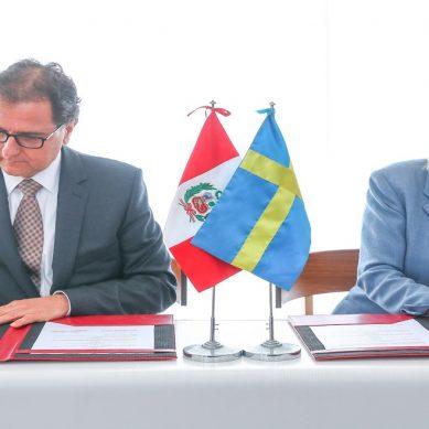 Perú y Suecia firman memorándum de entendimiento para el desarrollo de una minería sostenible