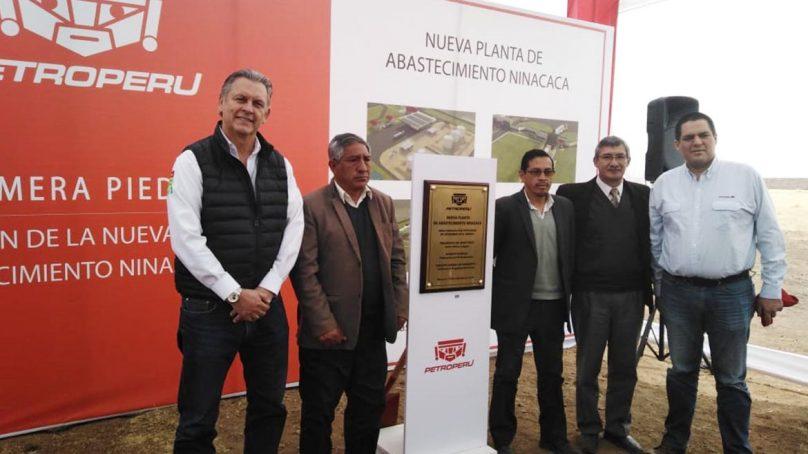 Petroperú coloca primera piedra de la planta de abastecimiento de Ninacaca, en Puno