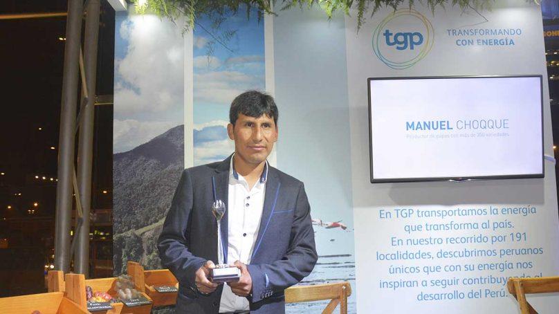 TGP otorgó premio Summum 2018 a productor de papas nativas
