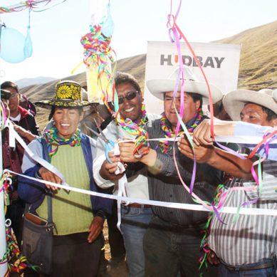Minera Hudbay entrega nuevo sistema de riego para población de Chumbivilcas, en Cusco