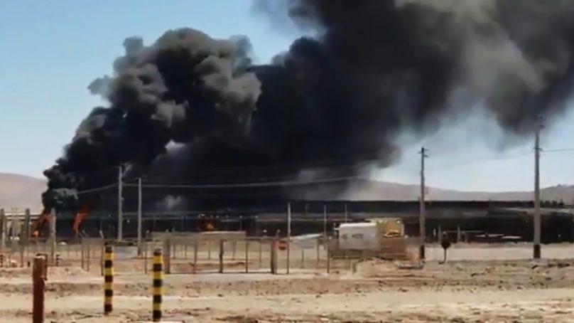 BHP cierra parcialmente mina Spence a causa de un incendio