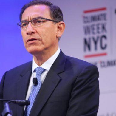 """Presidente Vizcarra: """"Perú se compromete a  reducir el 20% de emisiones de gases de efecto invernadero al 2030"""""""