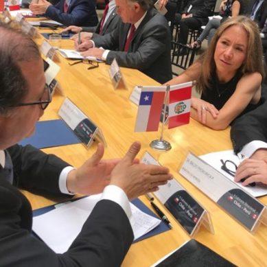 Ministros de Minería de Chile y Perú acuerdan cinco compromisos de fortalecimiento del sector