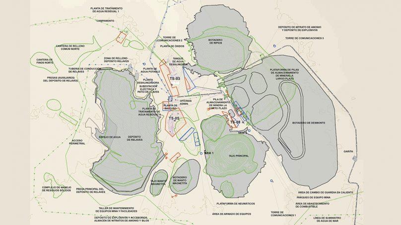Tajo principal de Mina Justa tendrá 2 km de largo por 1,5 km de ancho, y 500 m de profundidad
