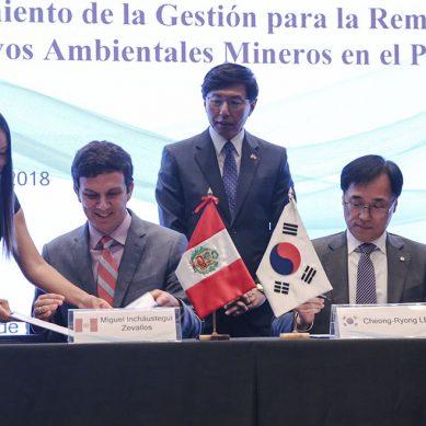 Perú y Corea extienden acuerdo de cooperación para remediación de pasivos ambientales