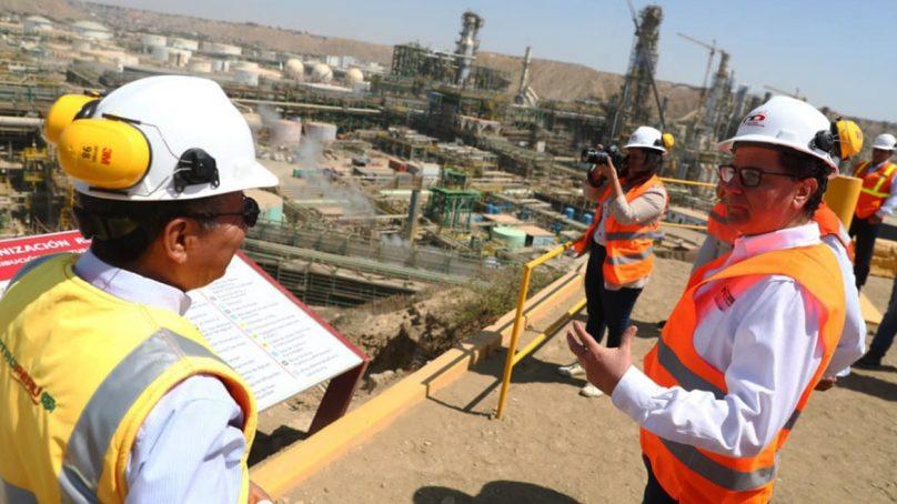 Refinería de Talara: Ministro Ísmodes verifica avance de más del 70% en obras del proyecto de modernización