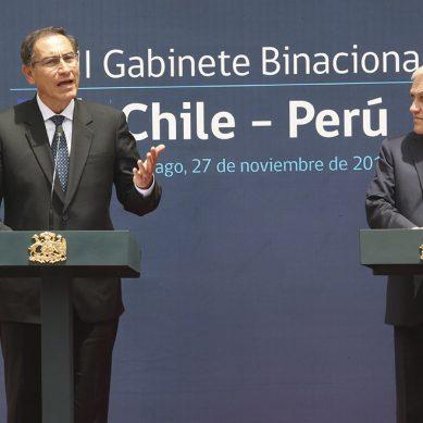 """Presidente Vizcarra: """"Perú y Chile deben articular mejor sus acciones contra los efectos del cambio climático"""""""