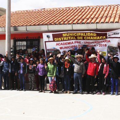 Hudbay Perú y la Municipalidad Distrital de Chamaca refuerzan educación de estudiantes con academia preuniversitaria