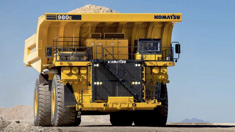 Cuatro camiones 980E de Komatsu son probados en mina Toquepala