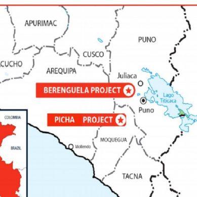 Brazo explorador de Rio Tinto se une al estudio del  proyecto Berenguela en Puno