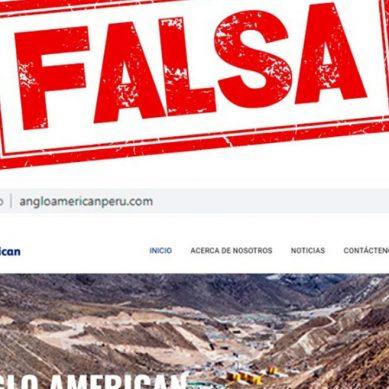 Quellaveco: minera global Anglo American advierte de existencia de web falsa