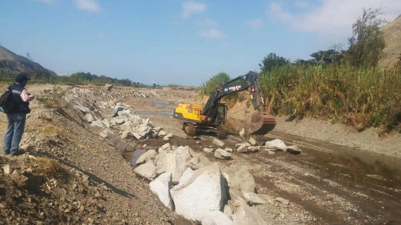 Inician trabajos de reforzamiento y encauzamiento del río Huarmey con apoyo de Antamina