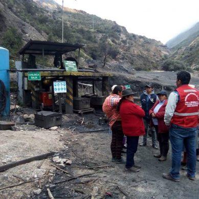 Cuatros mineros de una mina de carbón de Oyón se encuentran atrapados en túnel