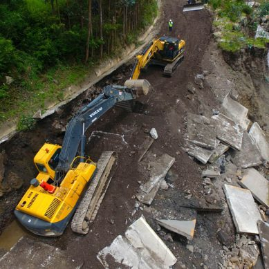 Antamina restablece carretera de San Marcos, dañada por intensas lluvias