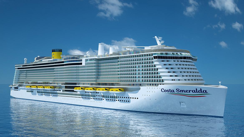 Costa Esmeralda, el primer crucero en el mundo alimentado por GNL
