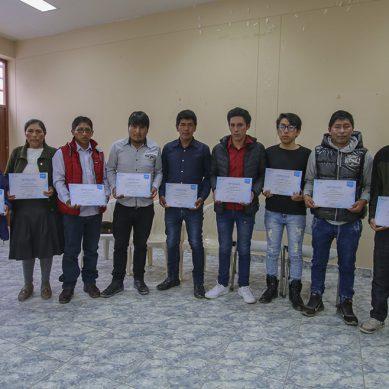 """Antapaccay: Jóvenes de Espinar obtienen certificado en """"Mantenimiento mecánico de plantas mineras"""""""