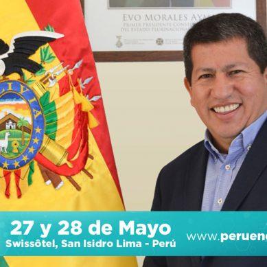 Ministro de Hidrocarburos de Bolivia expondrá proyectos de su cartera vinculados al Perú