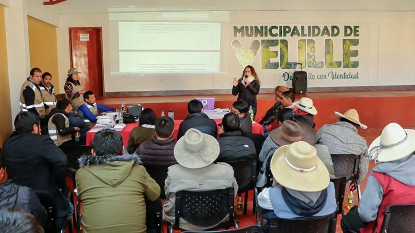 OEFA expuso plan para medir calidad ambiental en el corredor minero de Chumbivilcas