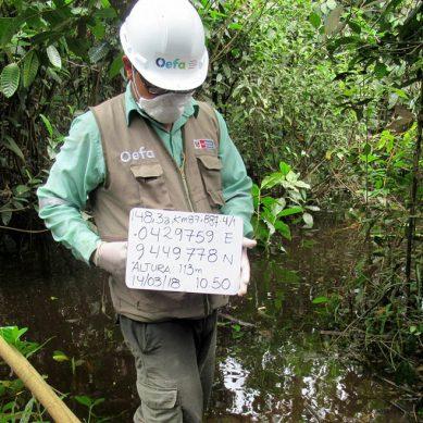 El OEFA supervisa derrame de petróleo en el Oleoducto Norperuano en Loreto