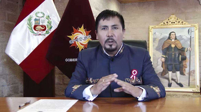 Elmer Cáceres, gobernador arequipeño que solo ha ejecutado el 26.6% de su presupuesto anual