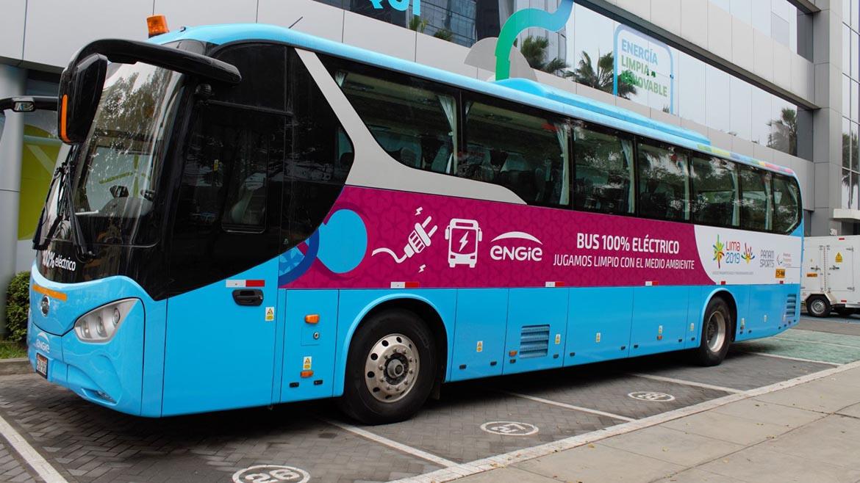 Engie Perú pondrá un bus eléctrico a disposición de los Juegos Panamericanos Lima 2019