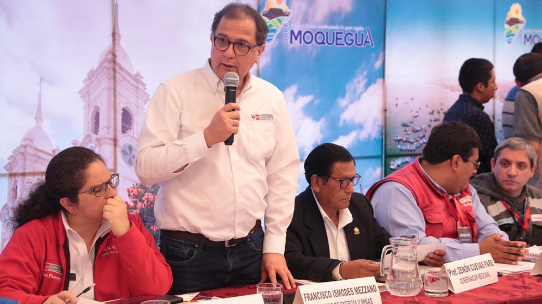 Minem: «Escucharemos las preocupaciones de la población de Moquegua sobre Quellaveco»