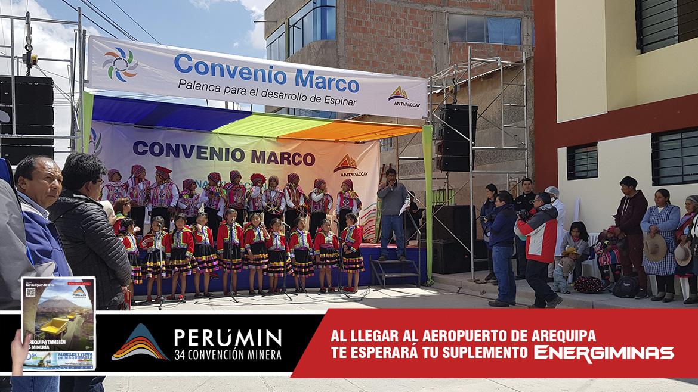 Minera Antapaccay entrega moderno salón multiusos para asociación de vecinos en Espinar