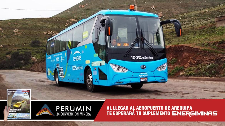Engie transporta la limpia electromovilidad a la convención minera Perumin 34