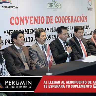Antapaccay y Gobierno Regional del Cusco potenciarán agro en Espinar y Chumbivilcas