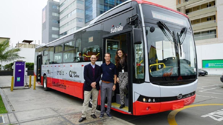 Enel X Perú trae bus eléctrico para el transporte público en Lima