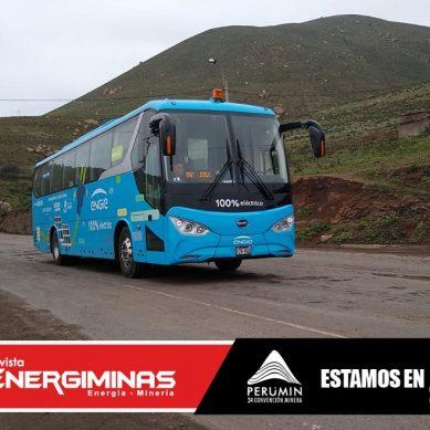 Bus eléctrico de Engie movilizará a visitantes de Perumin