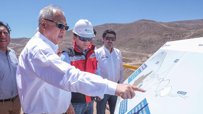 Ministro Juan Carlos Liu viajó a Moquegua para empaparse de Quellaveco