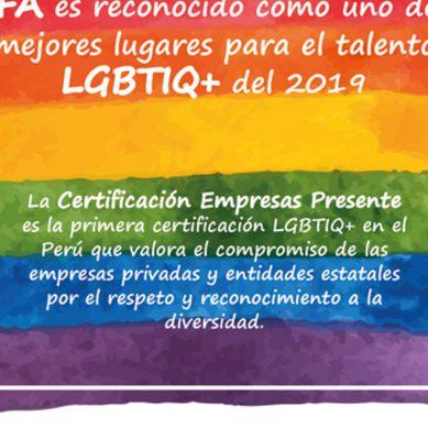 OEFA es reconocido como uno de los mejores lugares para el talento LGBTIQ+ del 2019