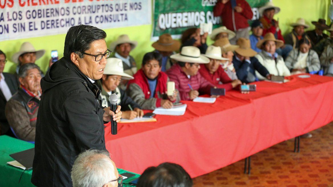 «El reto es asumir un esfuerzo compartido y responsable»: premier Zeballos desde Espinar