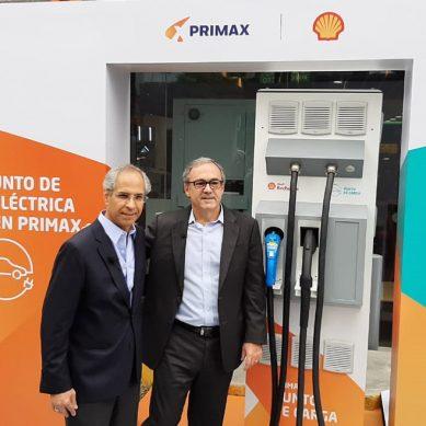 Primax y Shell estrenan el primer punto de carga para coches eléctricos e híbridos del Perú