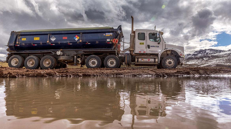 «Se ha vertido de manera parcial el concentrado de mineral sobre el suelo»: Servosa