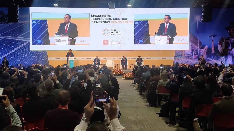 «Sin energía no hay desarrollo sustentable»: presidente Vizcarra clausura el Sun World 2019