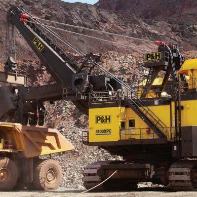 Nueva pala eléctrica de cable P&H 4100XPC, de Komatsu Mining, en Las Bambas