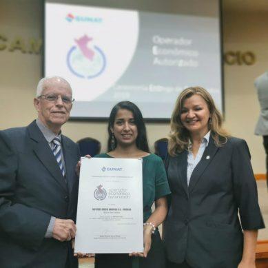 La empresa peruana Modasa obtiene la certificación OEA Importador
