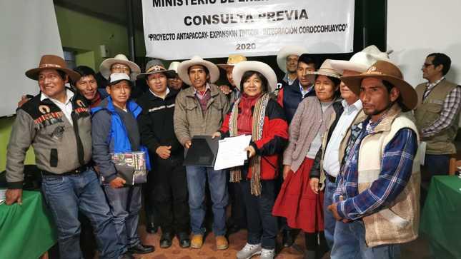 Integración Coroccohuayco: Minem entregó plan de consulta previa a comunidades de Espinar